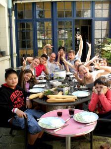 Repas avec les neveux