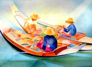 Vendeuses Thaïlandaises - Janick Lederlé